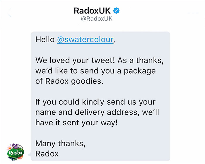 To his surprise, Radox replied to him