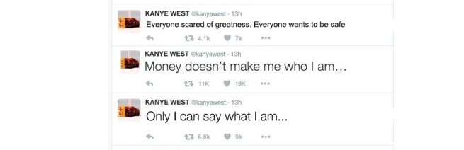 Sure, Kanye...
