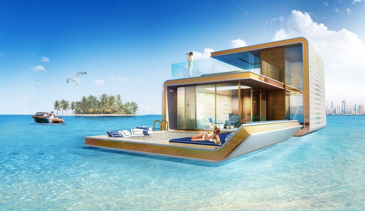 The villa has a large floating deck for you to revel in the sun.