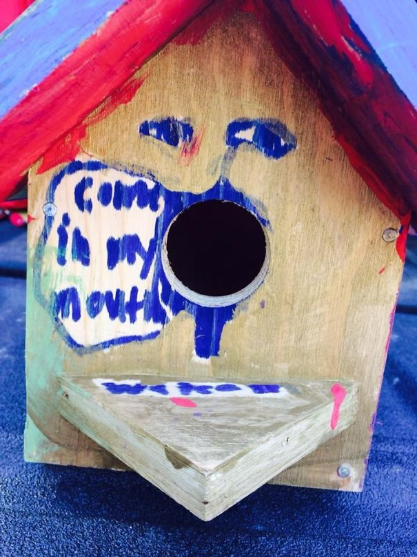 #11 My Friend's Nephew Made This Birdhouse At Camp