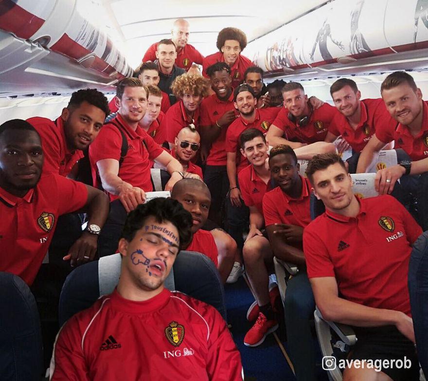 Belgian Red Devils Squad Pranking The Ball Boy