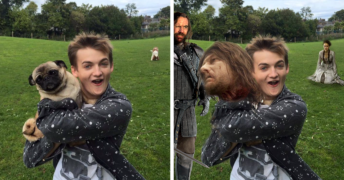 Super Mario Game Of Thrones Crossover Iron Throne: King Joffrey Hugs A Pug, And Sparks A