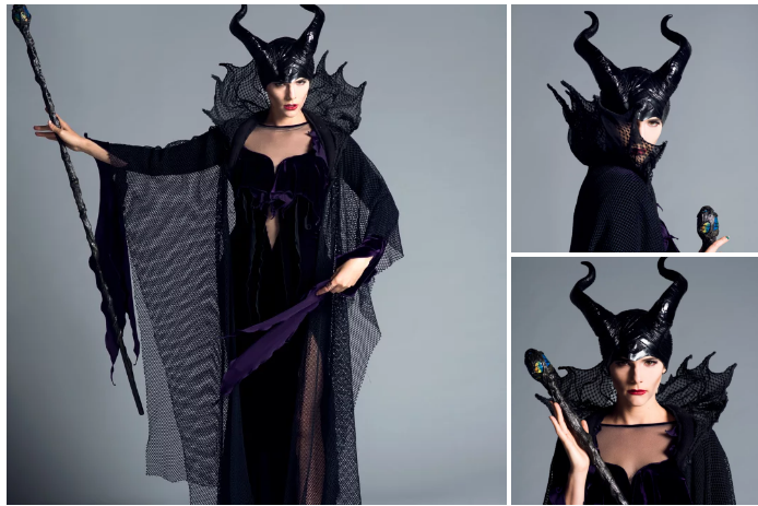 Devin was scary hot as Maleficent (Click the photos to see the full-size images!):
