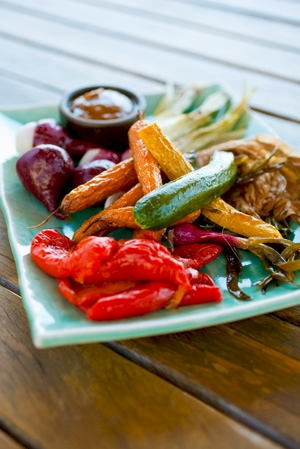 Roast veggies on a high heat and don't crowd them, or they will steam instead.