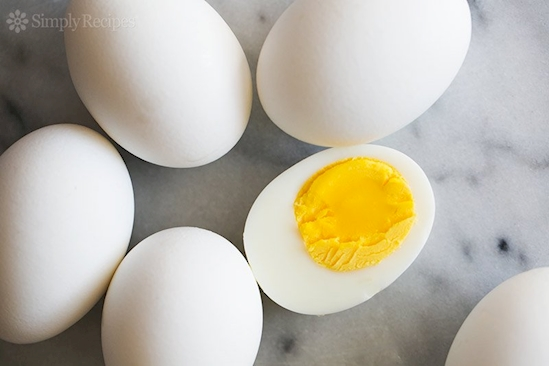 Add vinegar to the water when you hardboil eggs to make them easier to peel later.