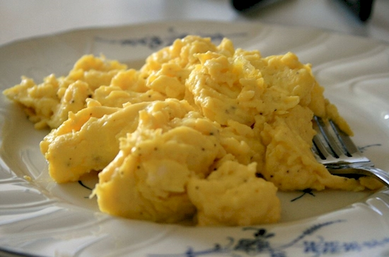 Don't rush your scrambled eggs.