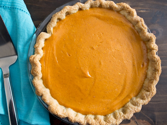 Add cream cheese to your pumpkin pie instead of condensed milk to get a better crust and bring out the flavour of the filling.