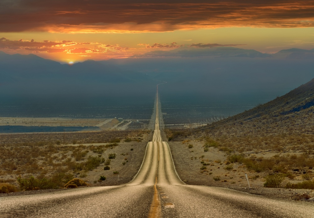 The road through Death Valley, USA