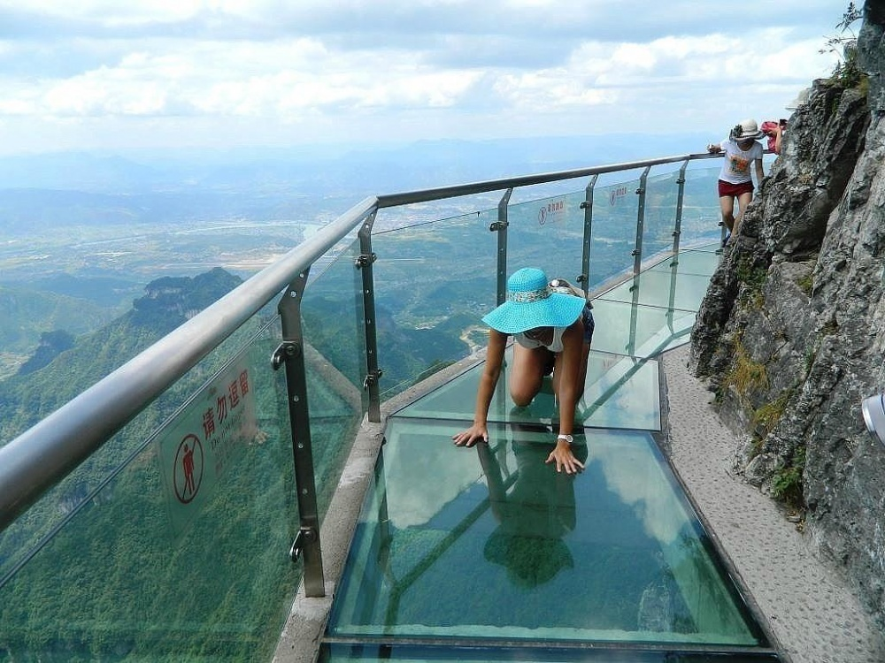The glass trail of terror (height: 1,430 metres), China