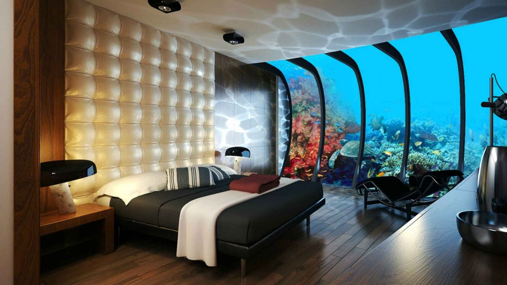 A room in an underwater hotel, Dubai