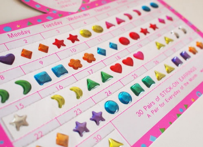 Earring stickers