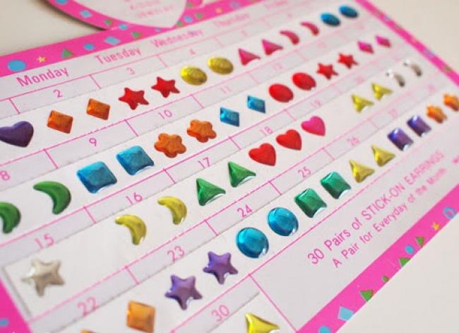 Earring stickers