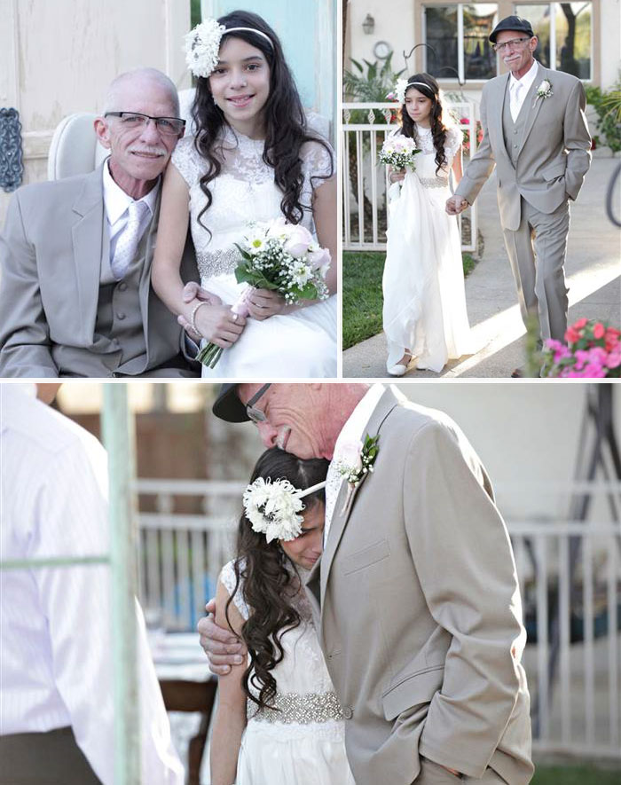 11. Dying Dad Walks His 11-Year-Old Daughter Down The 'Aisle' To Give Her A Lasting Memory