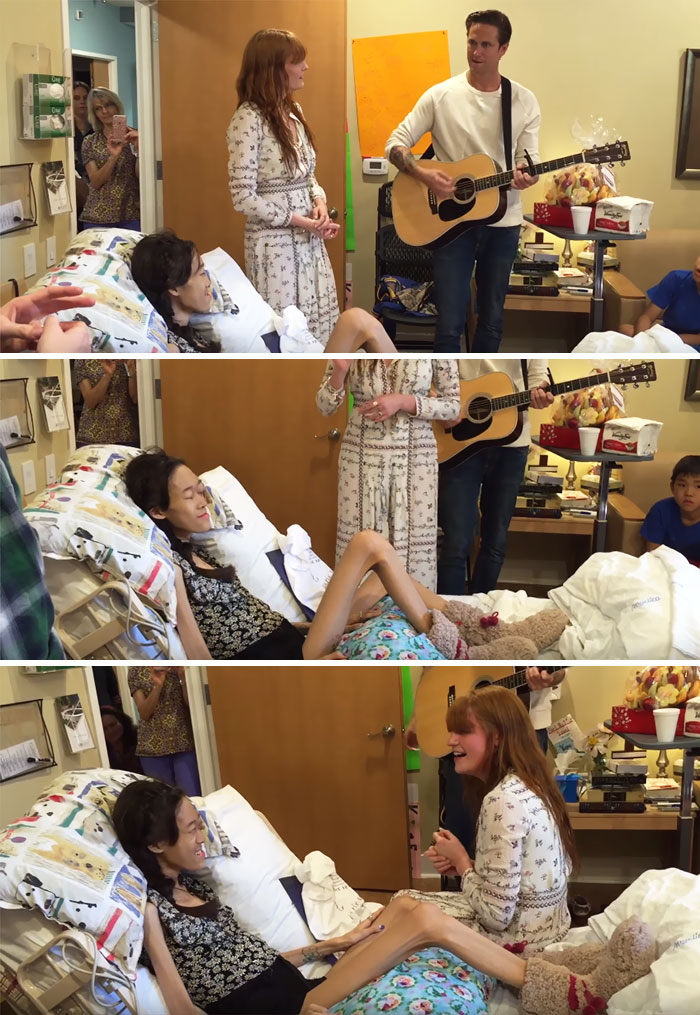 10. This Girl Gets Her Dying Wish Of Being Serenaded By Florence And The Machine