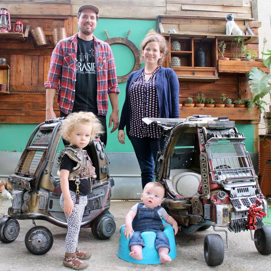 This California-based director and father just created Mad Max: Fury Road vehicles for his kids and they look totally insane