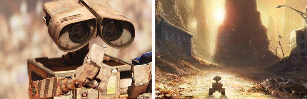 6. When all the other robots on Earth stopped working, and Wall-E was left cleaning up humanity's never-ending mess by himself, but all he truly longed for was companionship: