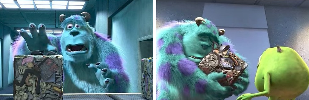 5. When Sully was convinced that Boo was killed and trash-compacted into a cube in Monsters, Inc.:
