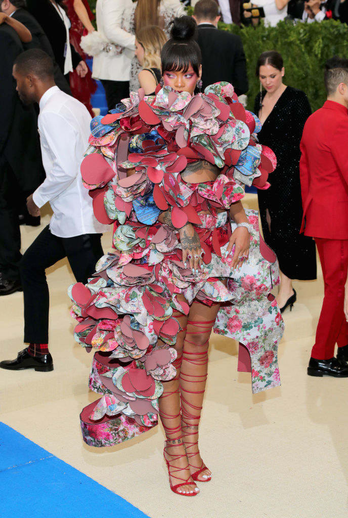 Oh hello there, here's what Rihanna wore to the Met Gala. It is PERFECT.