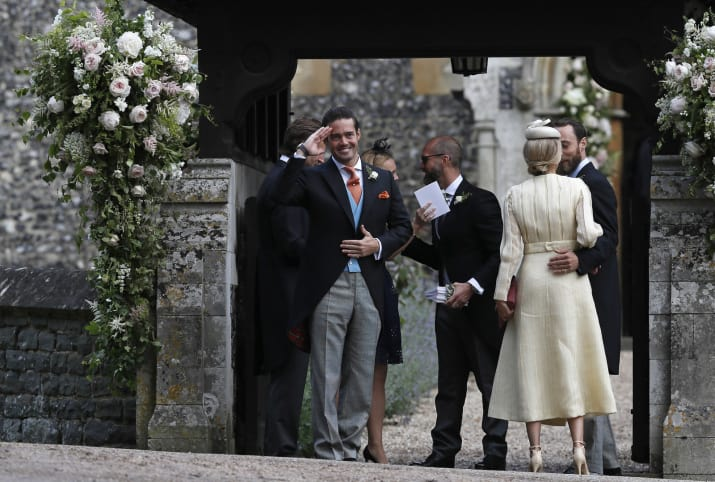 And the brother of the groom, Spencer Matthews.