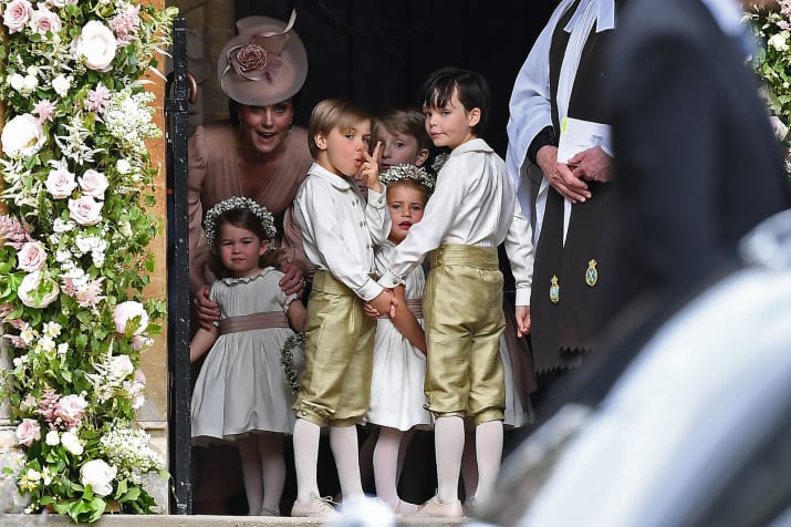 Which included none other than her daughter, Princess Charlotte, aged 2.