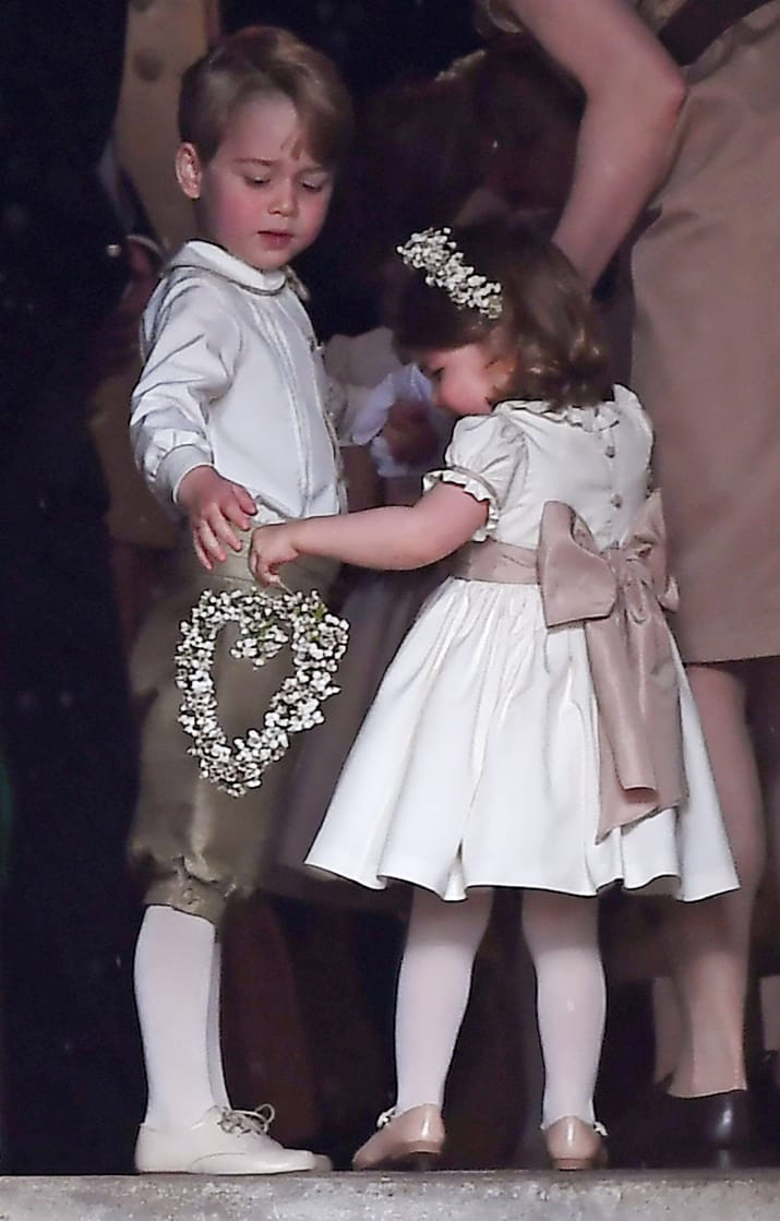 And her son, Prince George, 3.