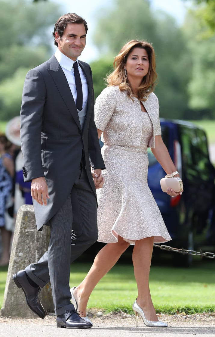 And tennis legend Roger Federer was there with his wife, Mirka.
