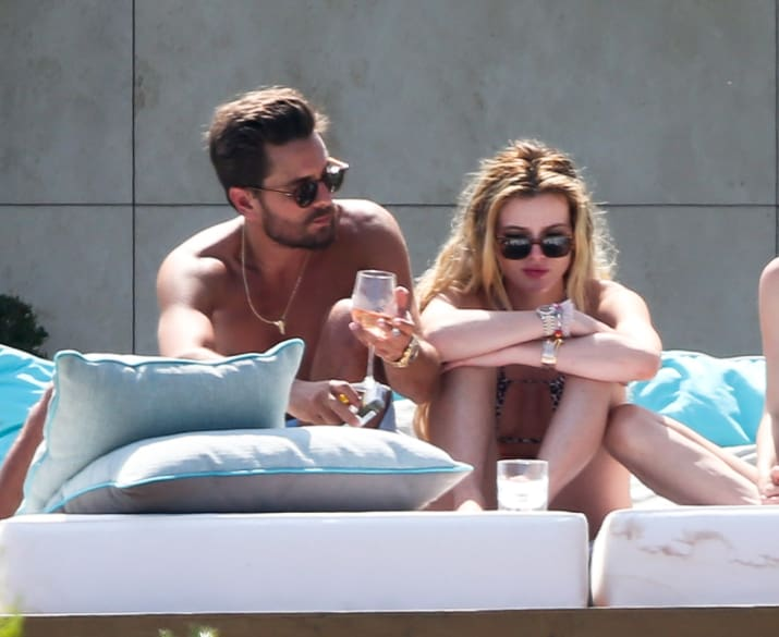 Let's just get to it: Here's Bella Thorne and Scott Disick cuddling and stuff on a daybed in Cannes.