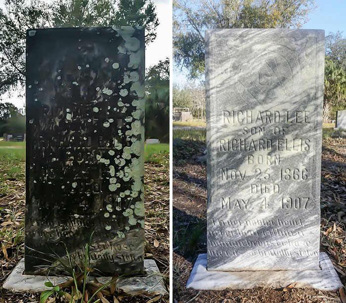 Andrew Lumish, who goes by the handle The Good Cemeterian, runs a full-time carpet and upholstery cleaning service in Tampa, and spends every Sunday – his one day off – tending to the numerous derelict veteran grave sites in the area.