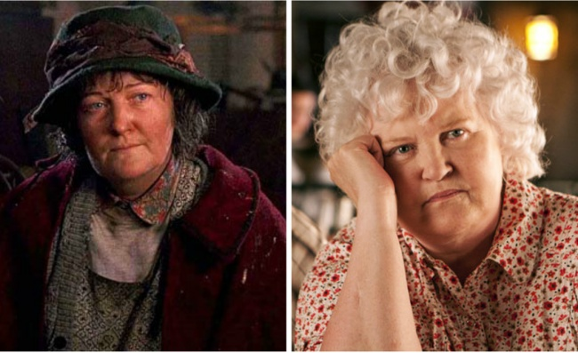 Pigeon Lady played by Brenda Fricker