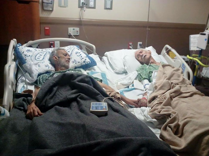 #14 Cancer-Stricken Son Holds Dying Dad's Hand One Last Time