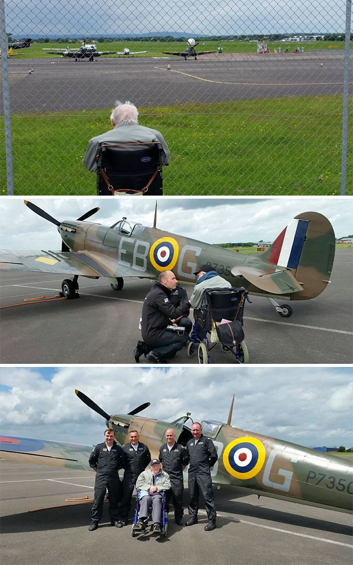 #18 Dying World War Two Engineer Gets Last Wish Granted: To Be Reunited With Iconic Plane, After Bosses See Him Staring Forlornly Through Fence From His Wheelchair.