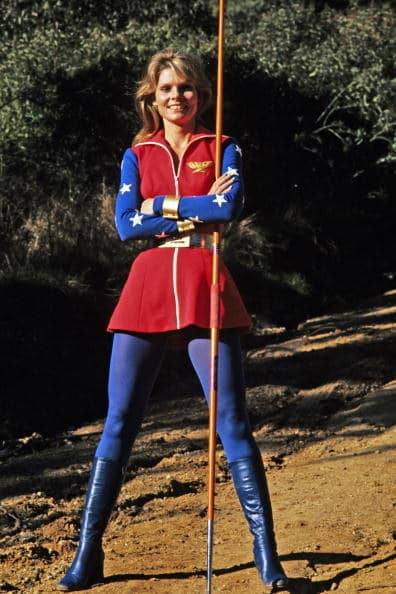In 1974, before the famous Lynda Carter Wonder Woman series of the '70s, there was a TV movie version starring semi-pro tennis player Cathy Lee Crosby and Ricardo Montalban. SHE WAS BLONDE.