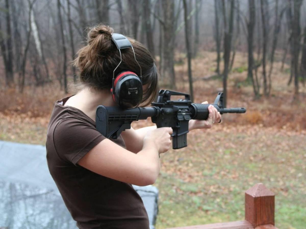 Shooting with guns