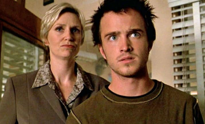 6. Aaron Paul and Jane Lynch — The X-Files