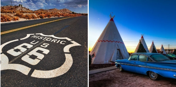 5. Head west and cruise down Route 66: