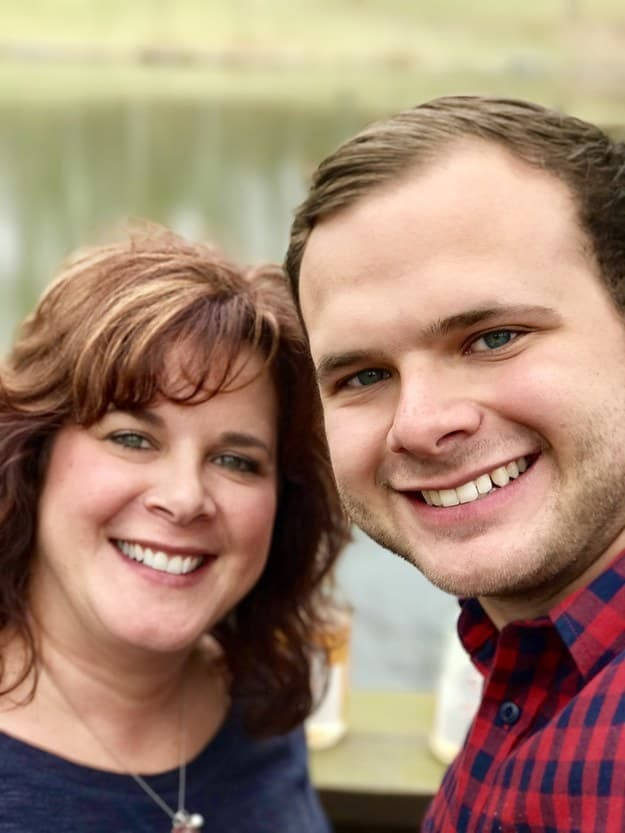 13. This highly photogenic, identical mother and son.