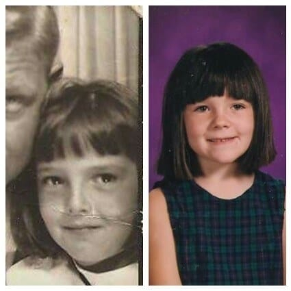 7. This mother and daughter who even share a love of bangs.