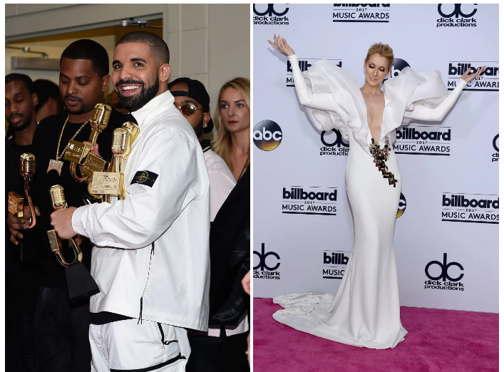 Drake and Celine Dion: Two great Canadian tastes that taste great together. At the Billboard Music Awards on Sunday, Drake had a total fangirl moment when he met Celine for the first time.