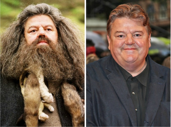 Rubeus Hagrid played by Robbie Coltrane