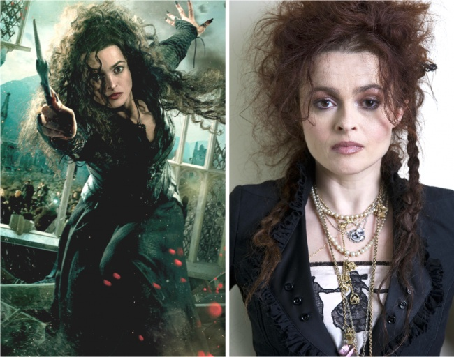 Bellatrix Lestrange played by Helena Bonham Carter