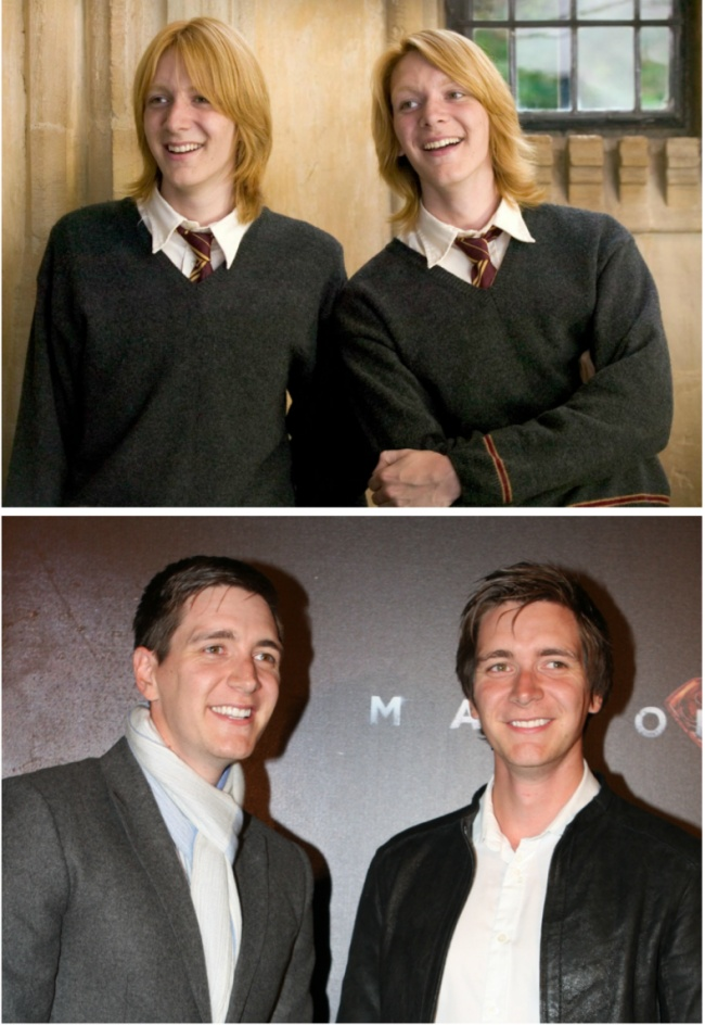 Fred and George Weasley played by James and Oliver Phelps