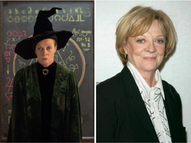 Minerva McGonagall played by Maggie Smith
