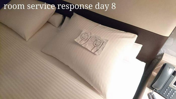 Once again the housekeeper left him a friendly note
