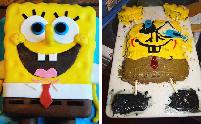 SpongeBob is no longer a cake.