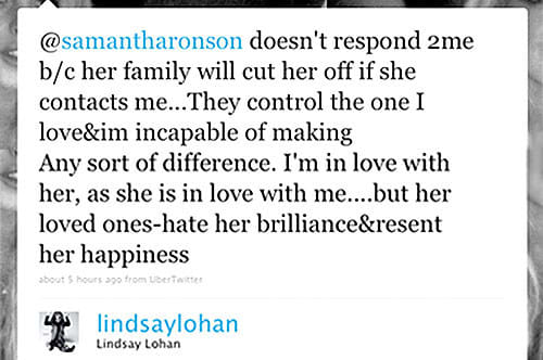 14. Seriously, Lindsay Lohan invented messy Twitter drama: