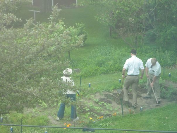 #2 The Mormons Insisted On Speaking To My Mom. So Here They Are Helping Her Garden