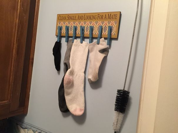 #18 My Mom Has This Hanging Above The Dryer In Her Laundry Room
