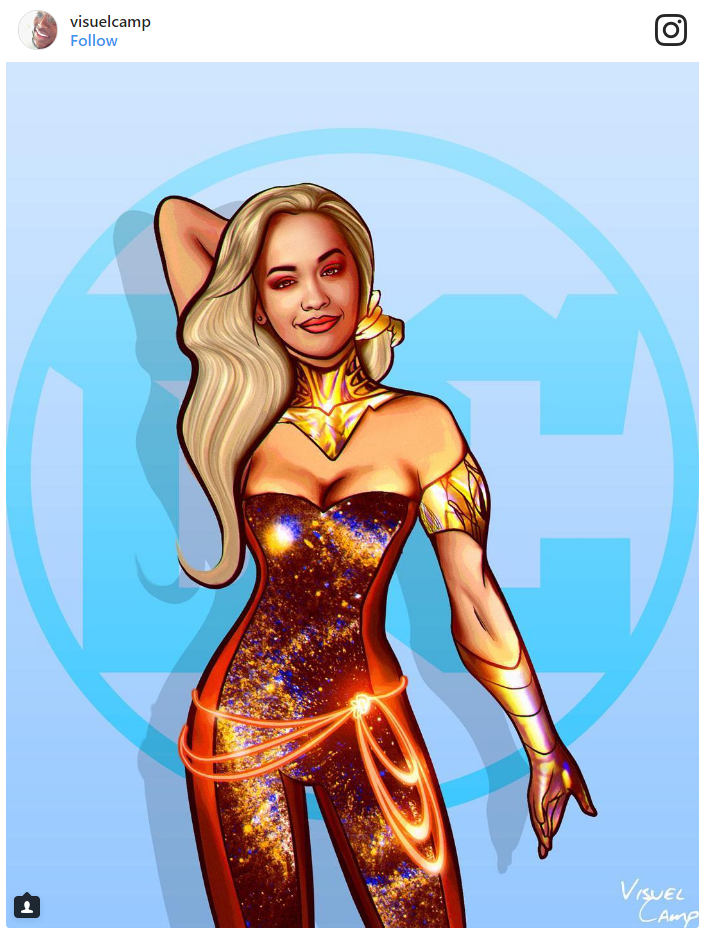 4. Rita Ora as Wonder Girl