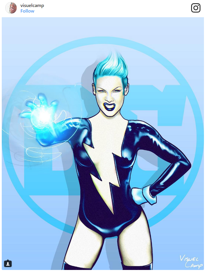 8. P!nk as Livewire