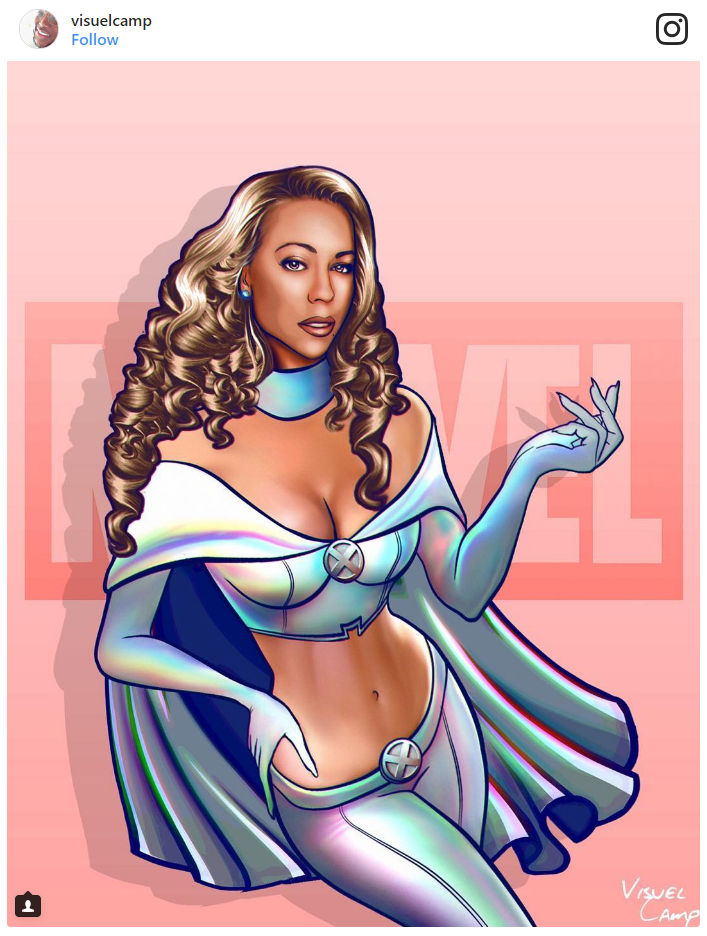 13. Mariah Carey as Emma Frost